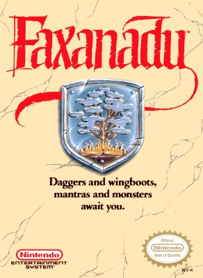 Faxanadu Cover Art
