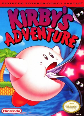 Kirby's Adventure Cover Art
