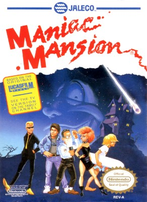 Maniac Mansion Cover Art