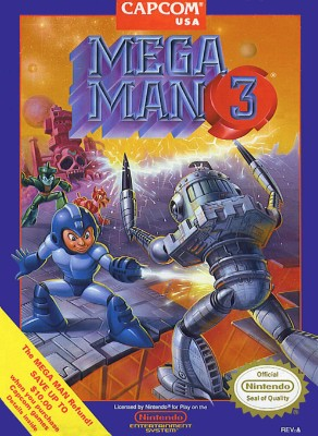 Mega Man 3 Cover Art