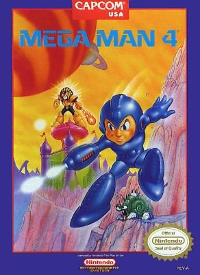 Mega Man 4 Cover Art