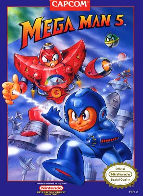 Mega Man 5 Cover Art