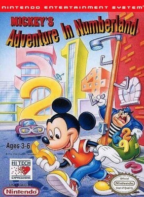 Mickey's Adventure in Numberland Cover Art