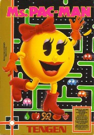Ms. Pac-Man [Tengen] Cover Art