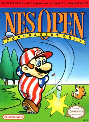 NES Open Tournament Golf Cover Art