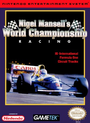 Nigel Mansell's World Championship Racing Cover Art
