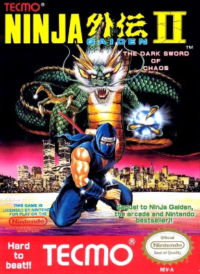 Ninja Gaiden II: The Dark Sword of Chaos Cover Art