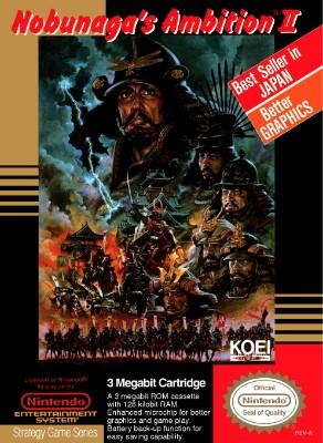 Nobunaga's Ambition II Cover Art