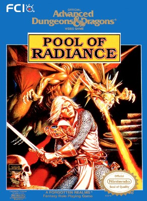 Advanced Dungeons & Dragons: Pool of Radiance Cover Art