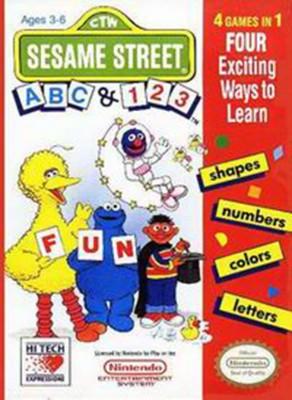 Sesame Street: ABC/123 Cover Art