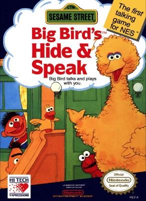 Sesame Street: Big Bird's Hide & Speak Cover Art