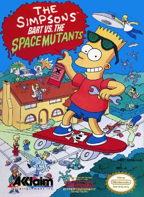 Simpsons: Bart Vs. the Space Mutants Cover Art