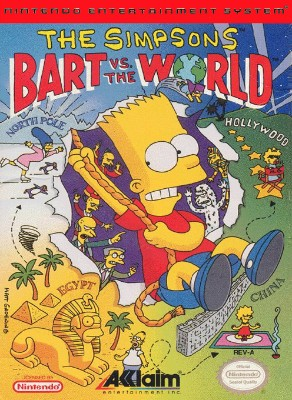 Simpsons: Bart Vs. the World Cover Art