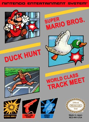 Super Mario Bros. / Duck Hunt / World Class Track Meet Cover Art