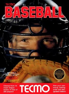 Tecmo Baseball Cover Art