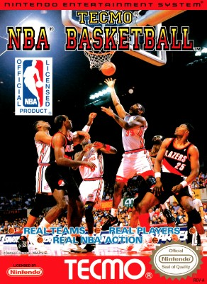 Tecmo NBA Basketball Cover Art