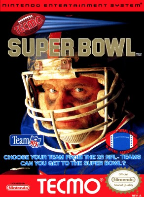 Tecmo Super Bowl Cover Art