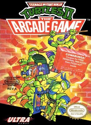 Teenage Mutant Ninja Turtles II: The Arcade Game Cover Art