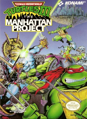 Teenage Mutant Ninja Turtles III: The Manhattan Project Cover Art
