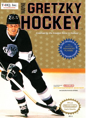 Wayne Gretzky Hockey Cover Art