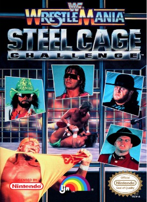 WWF Wrestlemania Steel Cage Challenge Cover Art
