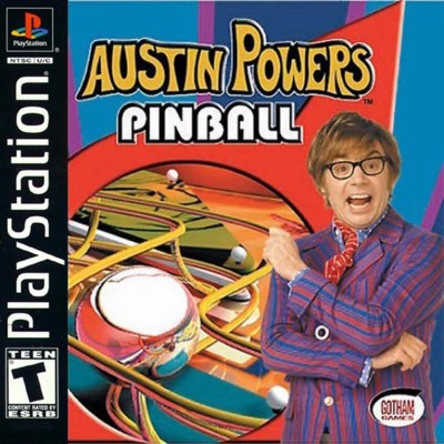 Austin Powers Pinball Cover Art