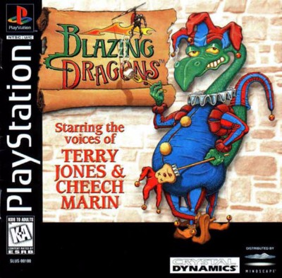 Blazing Dragons Cover Art