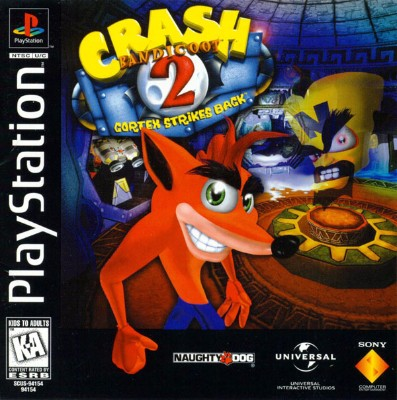Crash Bandicoot 2: Cortex Strikes Back Cover Art
