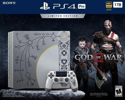 Playstation 4 Pro 1tb Limited Edition Console God Of War