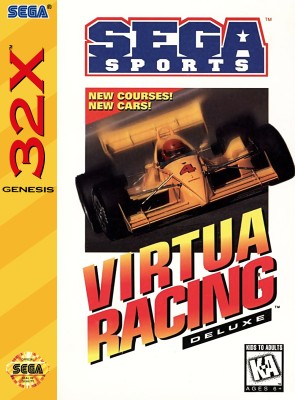Virtua Racing Deluxe Cover Art
