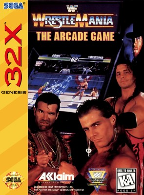 WWF WrestleMania: The Arcade Game Cover Art