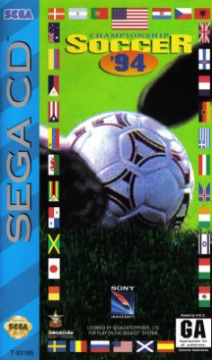 Championship Soccer 94 Cover Art