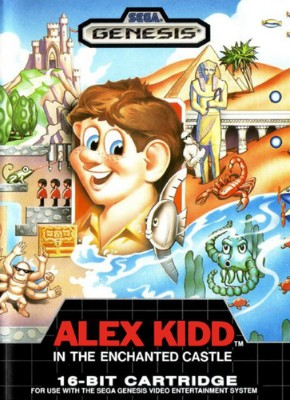 Alex Kidd in the Enchanted Castle Cover Art