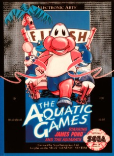 Aquatic Games starring James Pond and the Aquabats Cover Art