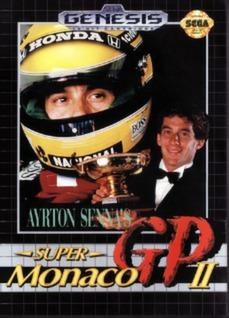 Ayrton Senna's Super Monaco GP II Cover Art