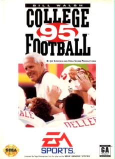 Bill Walsh College Football 95 Cover Art