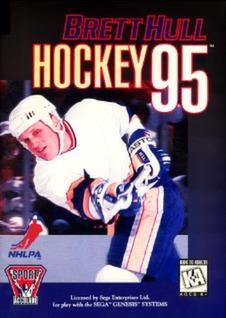 Brett Hull Hockey 95 Cover Art