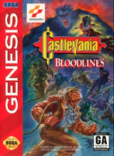 Castlevania: Bloodlines Cover Art