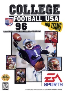 College Football USA 96 Cover Art
