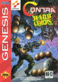 Contra: Hard Corps Cover Art