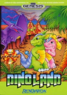 Dino Land Cover Art