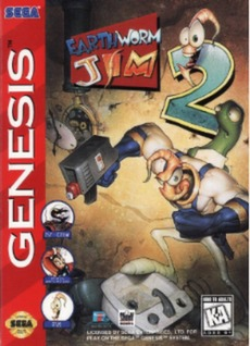 Earthworm Jim 2 Cover Art