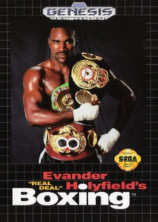 Evander Holyfield's Real Deal Boxing Cover Art