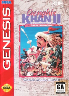 Genghis Khan II: Clan of the Gray Wolf Cover Art
