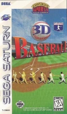 3D Baseball Cover Art