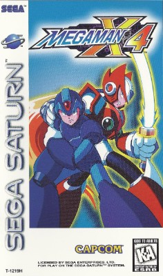 Mega Man X4 Cover Art