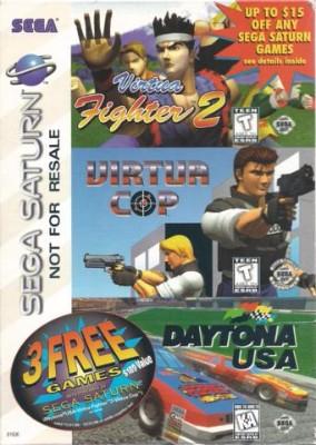 Virtua Fighter 2 - Virtua Cop - Daytona USA [Not For Resale Pack] Cover Art
