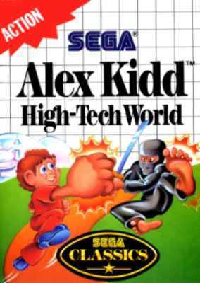 Alex Kidd: High-Tech World Cover Art