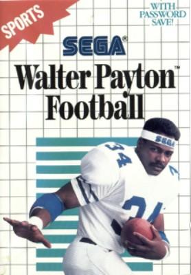 Walter Payton Football Cover Art
