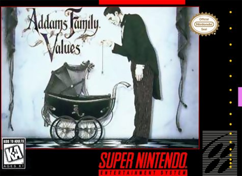 Addams Family Values Cover Art